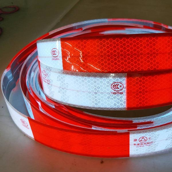 retroreflective material embodied on vynel strip