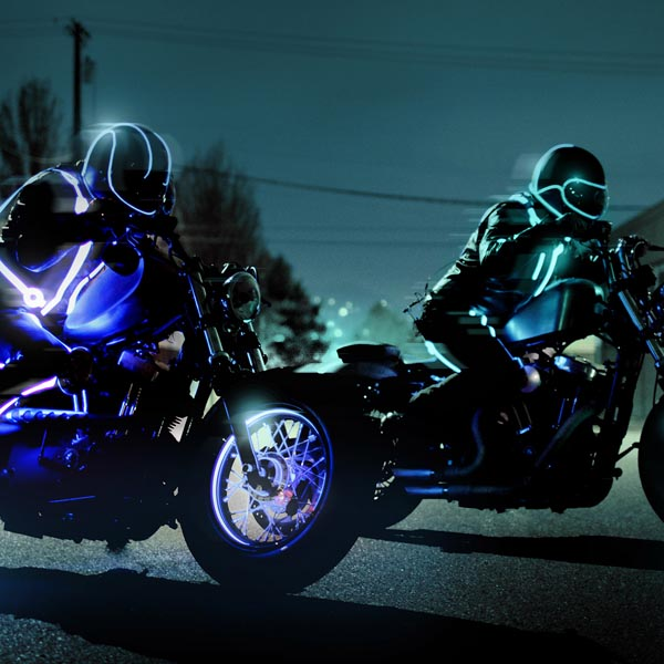 tron inspired motorcycle club
